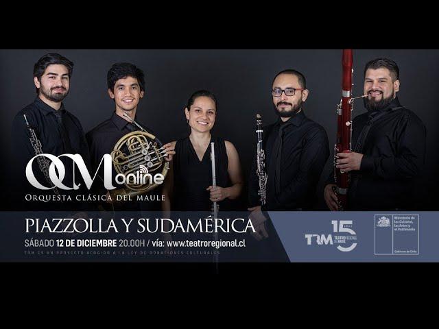 El quinteto de vientos de la Orquesta Clásica del Maule presenta repertorio sudamericano