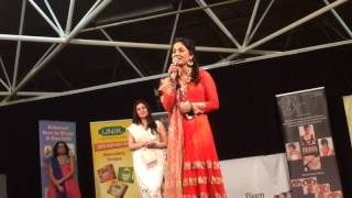 "Hina Khan Singing ""O Kanha ab to"" in London"