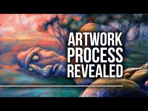 Artwork Process Revealed - Sunrise in the Grove of the Ancients