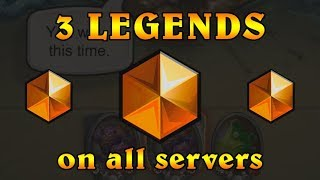 [Hearthstone] 3 Legends On All Servers