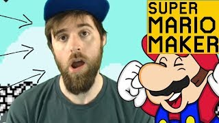 YouTube Chose This Thumbnail [SUPER MARIO MAKER] BECAUSE THE LEVEL GAVE ME THIS FACE
