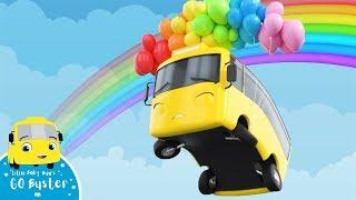 Бастер улетел до радуги!   Мультики для детей   Автобус Бастер   Детские Песни