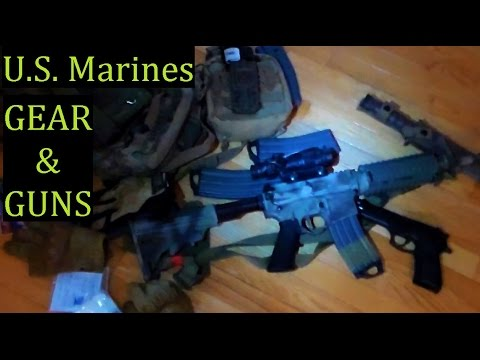 What US Marines Carry Issued Firearms & Combat Gear Loadout USGI