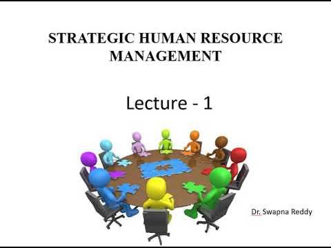 Strategic Human Resource Management Lecture 1