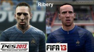 PES 2013 vs FIFA 13 Face Comparison FRANCE (National Team)
