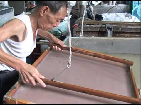 Hanji  (한지-韓紙) - Fabrication Du Papier Traditionnel Coréen