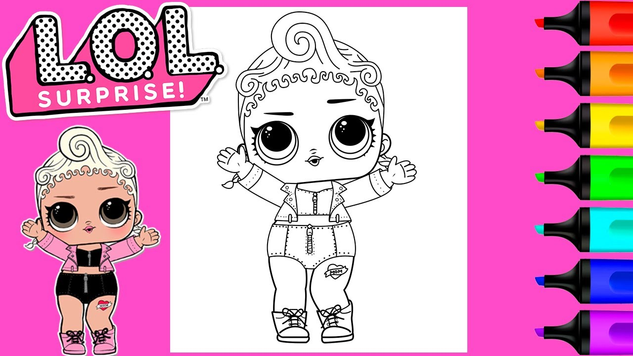 Coloring LOL Surprise Dolls Pink Baby Coloring Page Markers  Art and  Coloring Fun