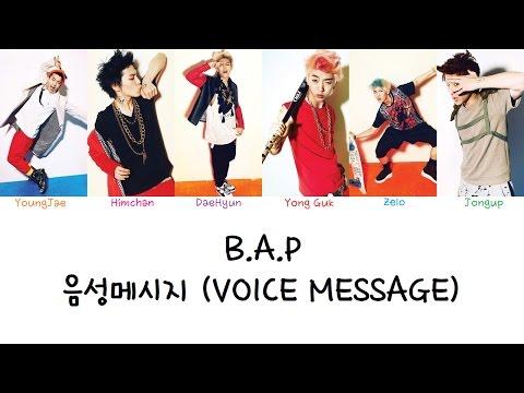 B.A.P - 음성메시지 (Voice Message) (Color coded lyrics Han|Rom|Eng)