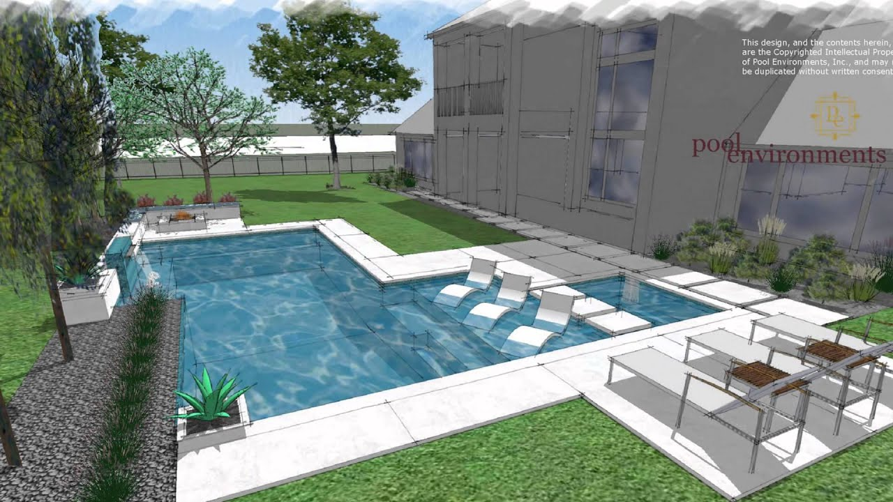 a modern swimming pool design for a houston client by randy angell of pool environments