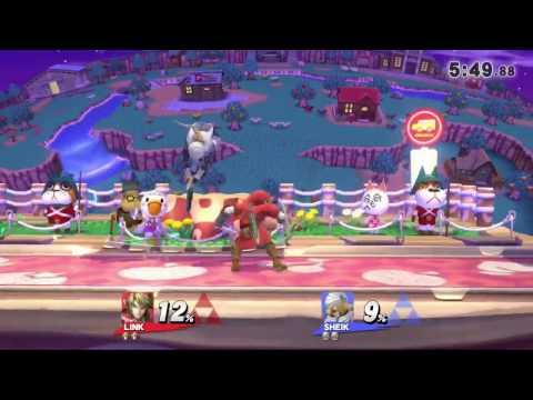 QC Monthly #4 Wii U Singles Pro Bracket: B-Cash(Link) vs Enjoy(Sheik)