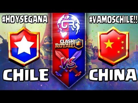 CR Worlds  | CHILE vs CHINA| Mundial Clash Royale Grupo C #VAMOSCHILE con TheGameHuntah