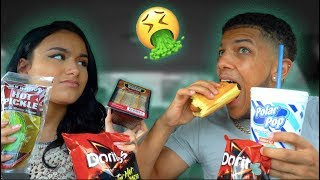 Eating Only Gas Station FOOD For 24 Hours! Don't Try! Literally Impossible.