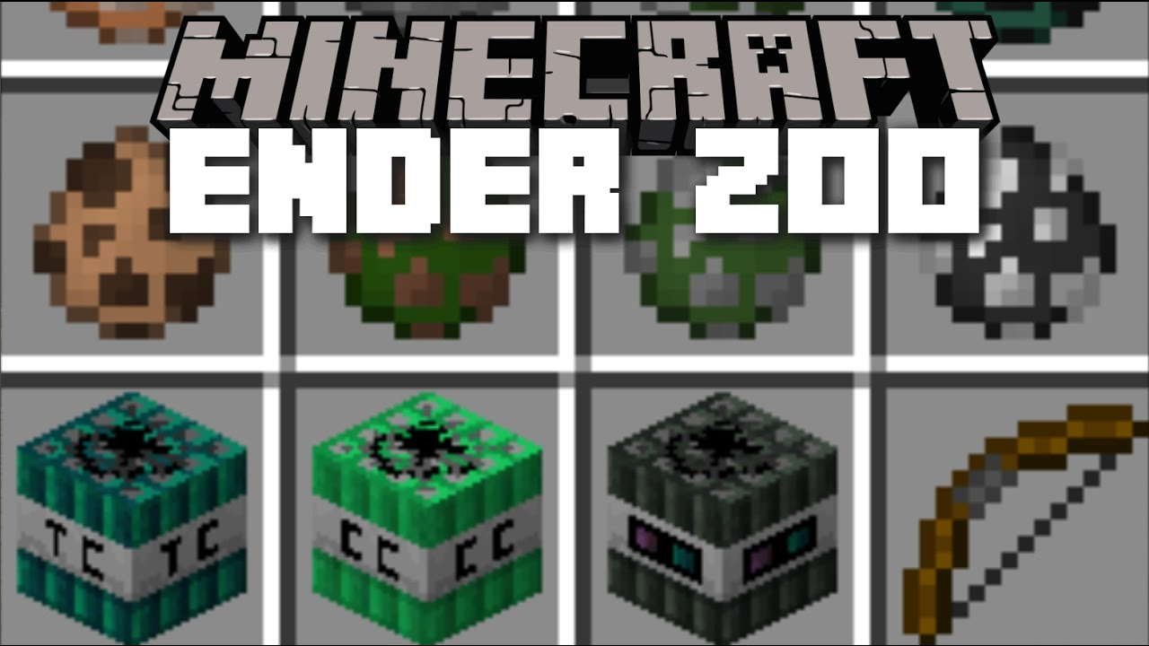 Minecraft ENDER ZOO MOD / SCARY MOBS AND BRAND NEW TNTs TO PLAY WITH!! Minecraft