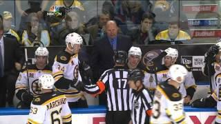 John Scott charging match penalty on Loui Eriksson Buffalo Sabres vs Boston Bruins 10/23/13 NHL