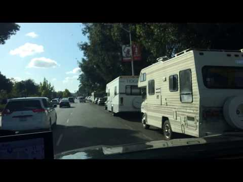 Expensive Real Estate - People Living in Motorhomes in Palo Alto California