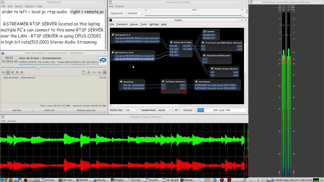 Stream LIVE MICROPHONE AUDIO or any other input using GSTREAMER RTSP  SERVER::client scripts