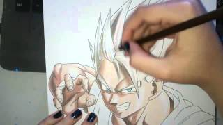 Speed Drawing - Gohan (Dragon Ball Z)