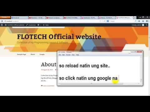 FLOTECH TUTORIAL: WordPress (Create Pages, Sub Menus, Custom Links) 06