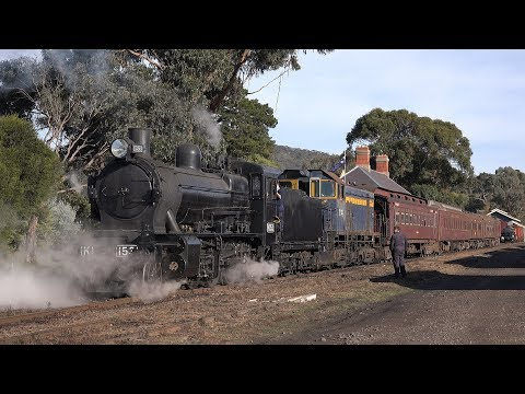 Victorian Goldfields Railway - Queen's Birthday Weekend June 2017 Part 1 (4K)