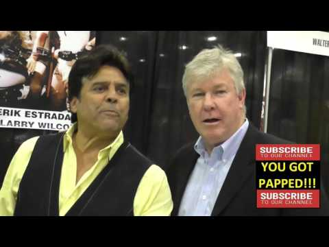 Erik Estrada and Larry Wilcox at Comikaze Expo at Los Angeles Convention Center in Los Angeles