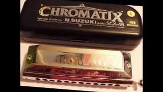 suzuki chromatix scx 48 12 hole chromatic harmonica being demonstrated by gary m harmonica