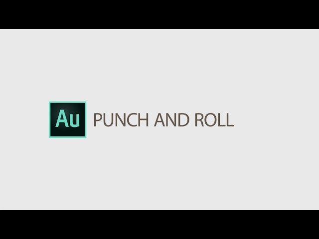Punch and Roll Recording in Audition April 2019 | Adobe Creative Cloud