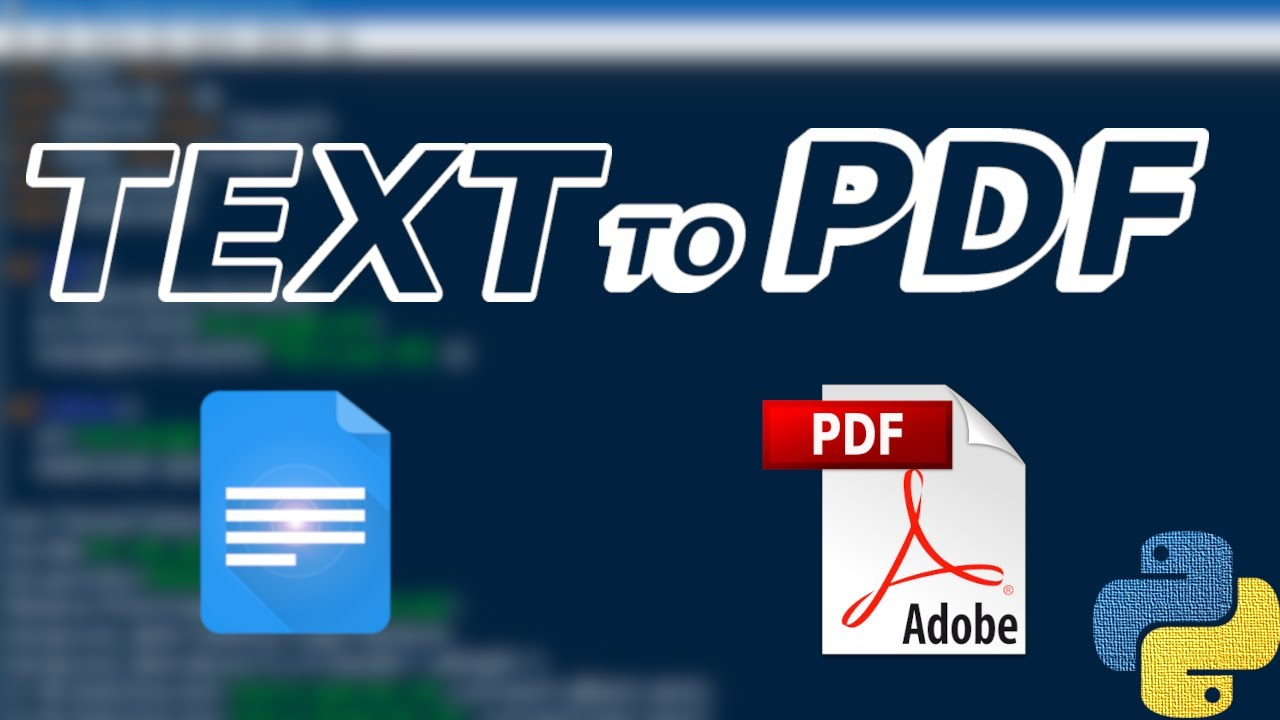 How to Text to PDF Conversion using Python ( 5 - Lines )