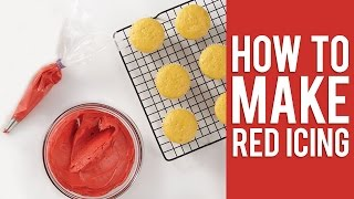How to make the Perfect Shade of Christmas Red Icing for Buttercream & Royal