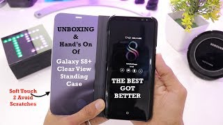 Galaxy S8 Plus Clear View STANDING CASE  SIMPLY AWESOME
