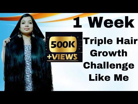 1-week-triple-hair-growth-challenge-|-long,thick-and-shiny-hair-|-stop-hair-fall-|-vibhati-creation