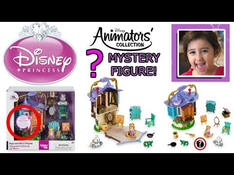 Disney Animators' Collection Rapunzel Micro Play Set Review and Mystery Figure Reveal [4K]