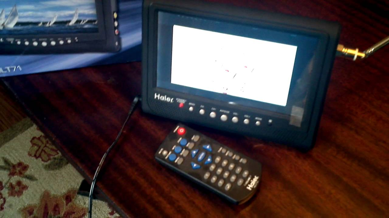 haier hlt71 7 inch handheld lcd tv youtube rh youtube com Haier HLT71 Update Port Haier LCD TV 7