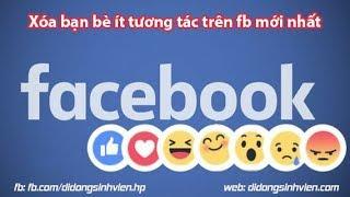 Hướng dẫn lọc bạn bè Facebook không tương tác, Friends nick ảo đơn giản, an toàn bằng code 2019