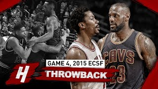 The Game LeBron James GOT HIS REVENGE on Rose with GAME-WINNER! EPIC Duel Highlights | Game 4, 2015