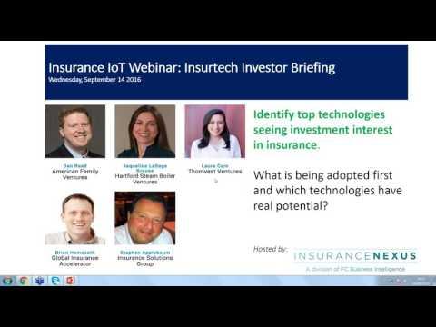 Insurance IoT Webinar Insurtech Investor Briefing