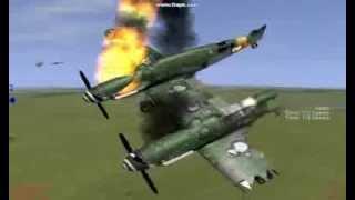IL2 Sturmovik Stunts & Crashes (with music)