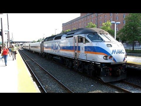 MARС Camden Line Baltimore To DC Ride