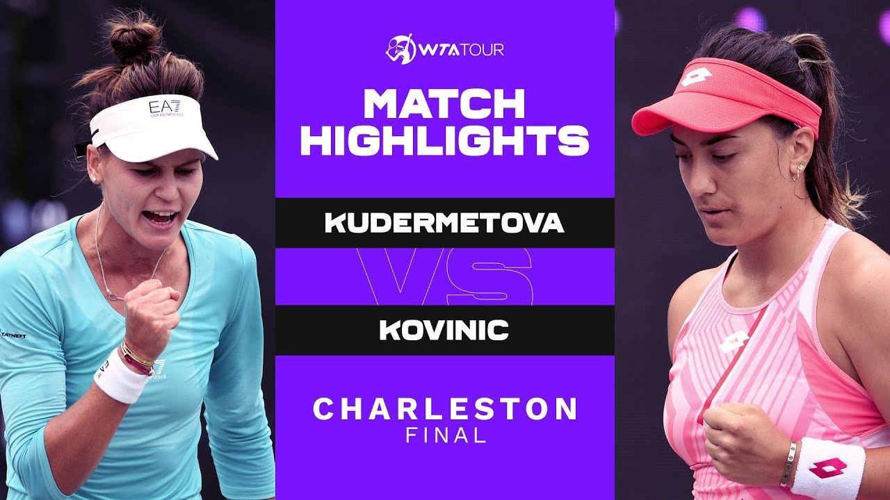 Veronika Kudermetova vs. Danka Kovinic | 2021 Charleston Final | WTA Match Highlights