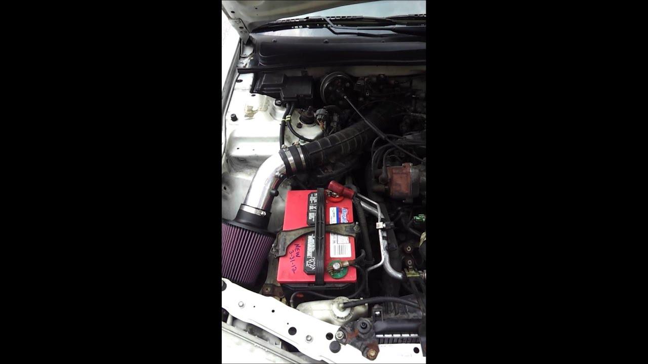 Honda Accord Cold Air Intake Increase Gas Mileage mpg 1997 - YouTube