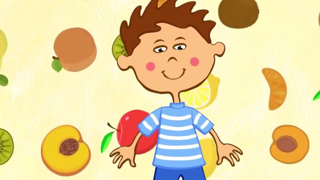 Песенки для детей .Развивающие мультики — Фрукты