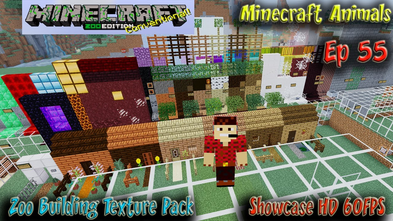 The Zoo Building Texture Pack Showcase Minecraft Zoo Minecraft Animals  9FPS Ep9