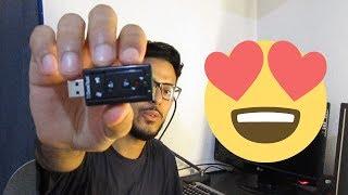 كيف حللت مشكلتي مع الصوت فقط بأقل من 2 دولار - مراجعة USB Sound Card 7.1 External Channel