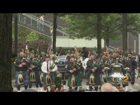 9/11 Memorial Glade Dedication Ceremony Held At Ground Zero