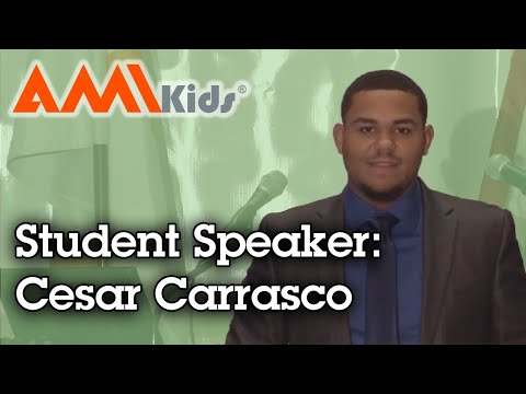 Student Speaker: Speeches Cesar Carrasco AMIkids Miami Dade North