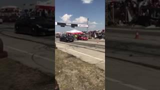 Nissan GTR vs opel kadet turbo  - drag race prishtina 2017