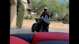 Ducati V4S Full Carbon FIRST RIDE! Part 1