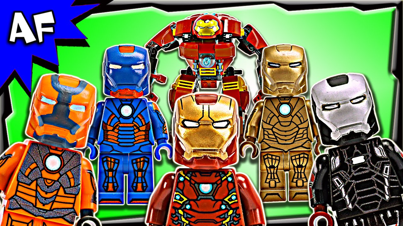 Lego Iron Man Complete Mark Armor Suits Minifigure Collection Youtube