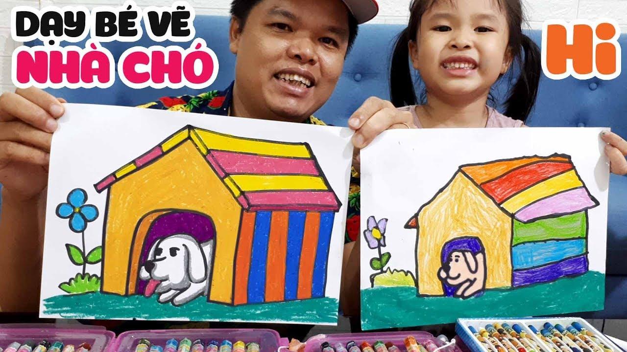Dạy bé học vẽ ngồi nhà cho con chó từng bước một rất dễ hiểu