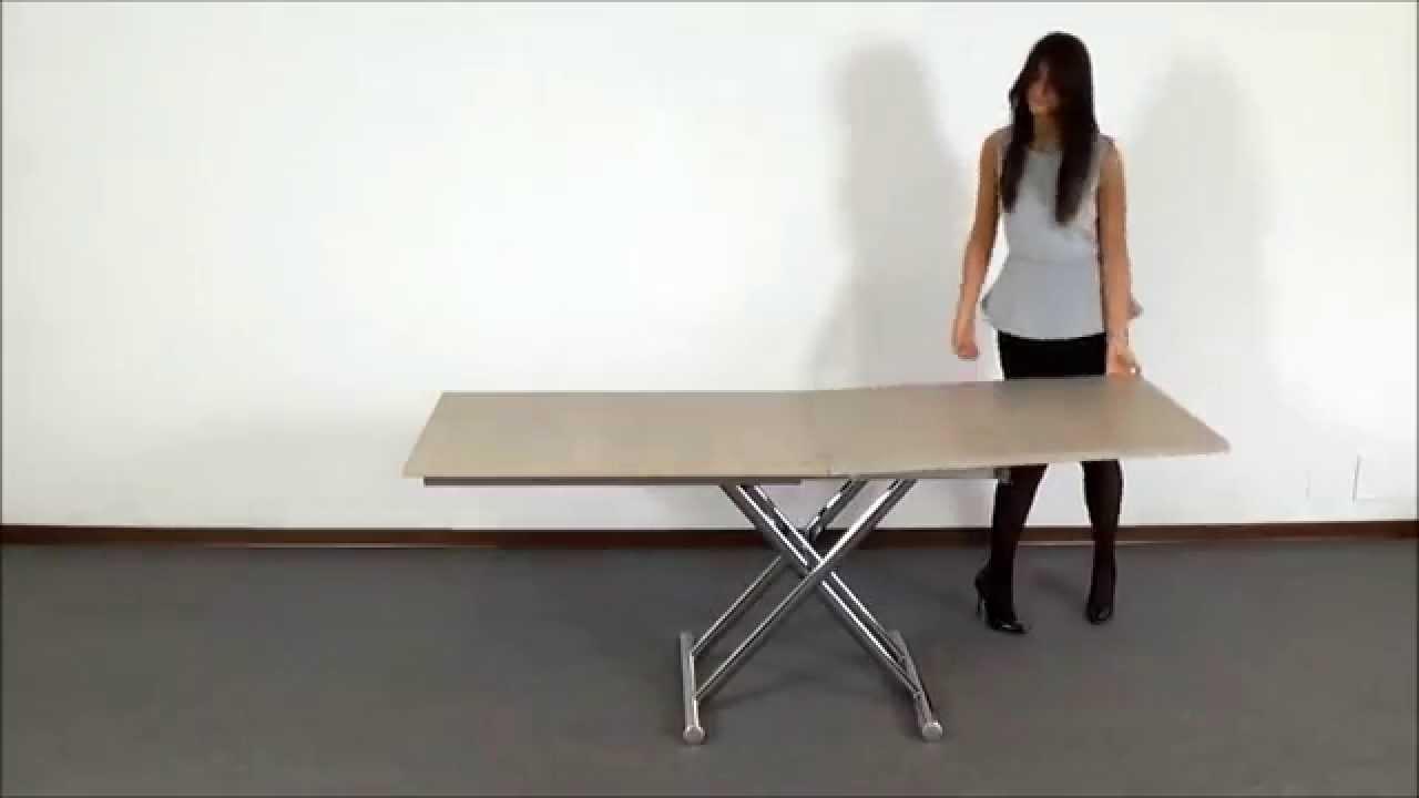 Tavolini Da Salotto Che Si Trasformano In Tavoli Da Pranzo.Gingillo Youtube