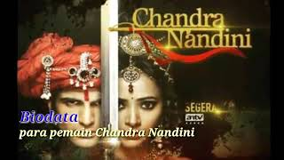 Nama nama asli pemeran serial CHANDRA NANDINI